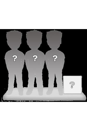 Figurines personnalisées en trio + accessoire taille M