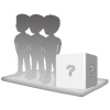 3 persons 100% customizable bobbleheads + Background size XL