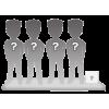 Figurine personnalisable 4 personnes + accessoire taille S