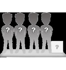 Figurine personnalisable 4 personnes + accessoire taille M