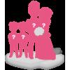100% personalizierte Hochzeitspaar Figuren + 2 Kinder