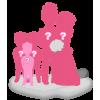 Figurine personnalisée mariage avec 3 enfants