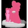 Figurine 100% personnalisée mariage avec 3 enfants