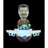 Figurine personnalisée d'aviateur