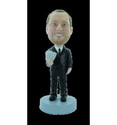 Figurine personnalisée banquier
