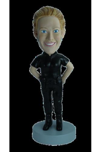 Figurine personnalisée de femme flic