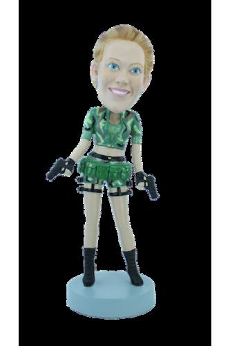 Figurine personnalisée de femme G.I