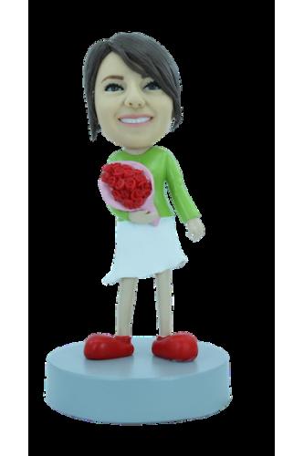 Figurine personnalisée de fleuriste