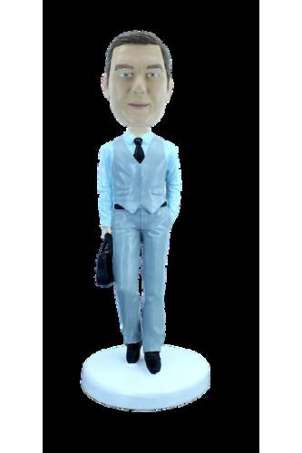 Figurine personnalisée l'homme à la malette