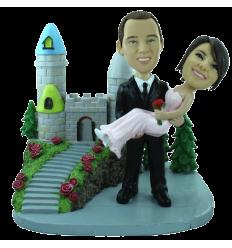 Figura de boda personalizable con castillo