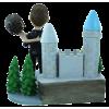 Custom wedding bobblehead with castle