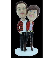 "Custom bobbleheads ""Trendy couple"""