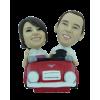 Figurine personnalisée en voiture