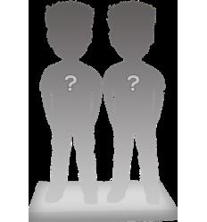 Figurine couple personnalisée de la tête aux pieds