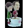 Figurine personnalisée autour d'un café