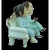 Figurine personnalisée sur un canapé