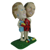 Figurine personnalisée couple de cromagnons