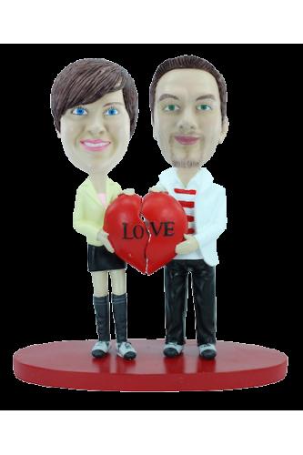 Figurine personnalisée amour