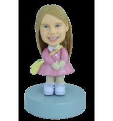 Figurine personnalisée en écolière