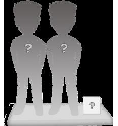 100% Personalisierte Paar Figuren + Zubehörteil Größ S
