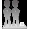 Couple 100% customizable bobbleheads + accessory size S