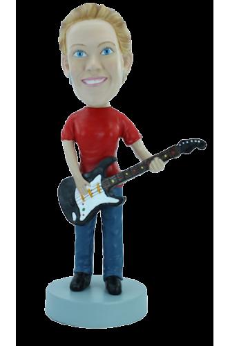 Figurine personnalisée femme guitariste
