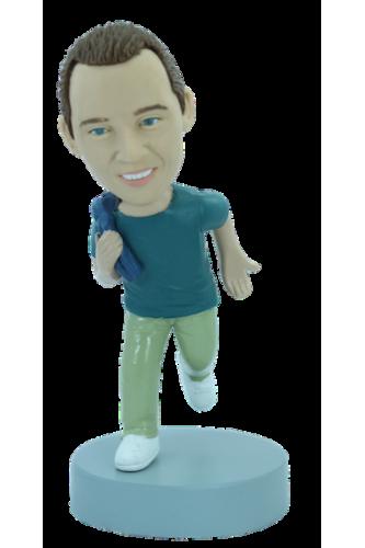 Figurine personnalisée qui court
