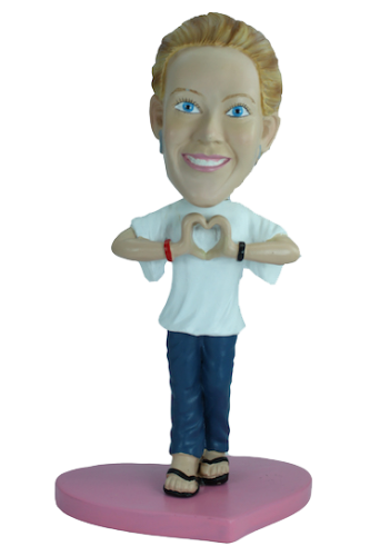 Figurine personnalisée cadeau st valentin