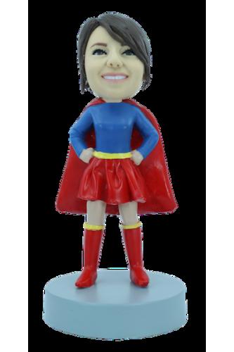Figurine personnalisée super-girl