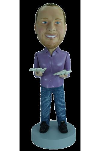Figurine personnalisée avec billets de banque