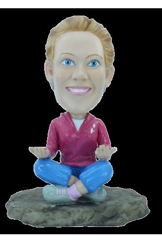Figurine personnalisée une séance Yoga