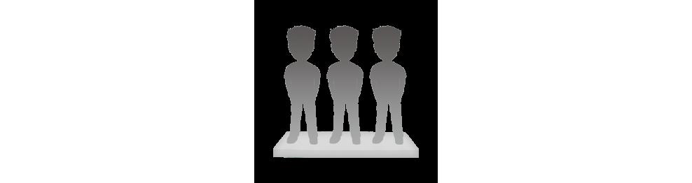 Figurine personnalisée 3 personnes