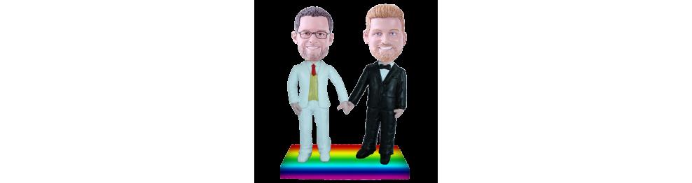Gay wedding custom bobblehead
