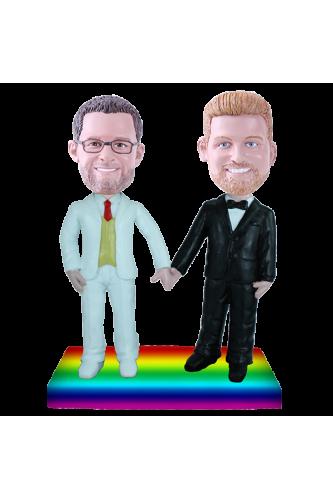 Figura personalizada de boda gay